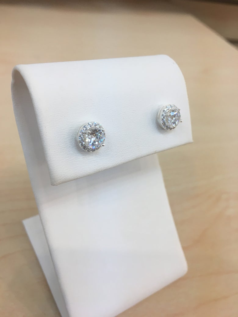 Image of CC diamond earrings