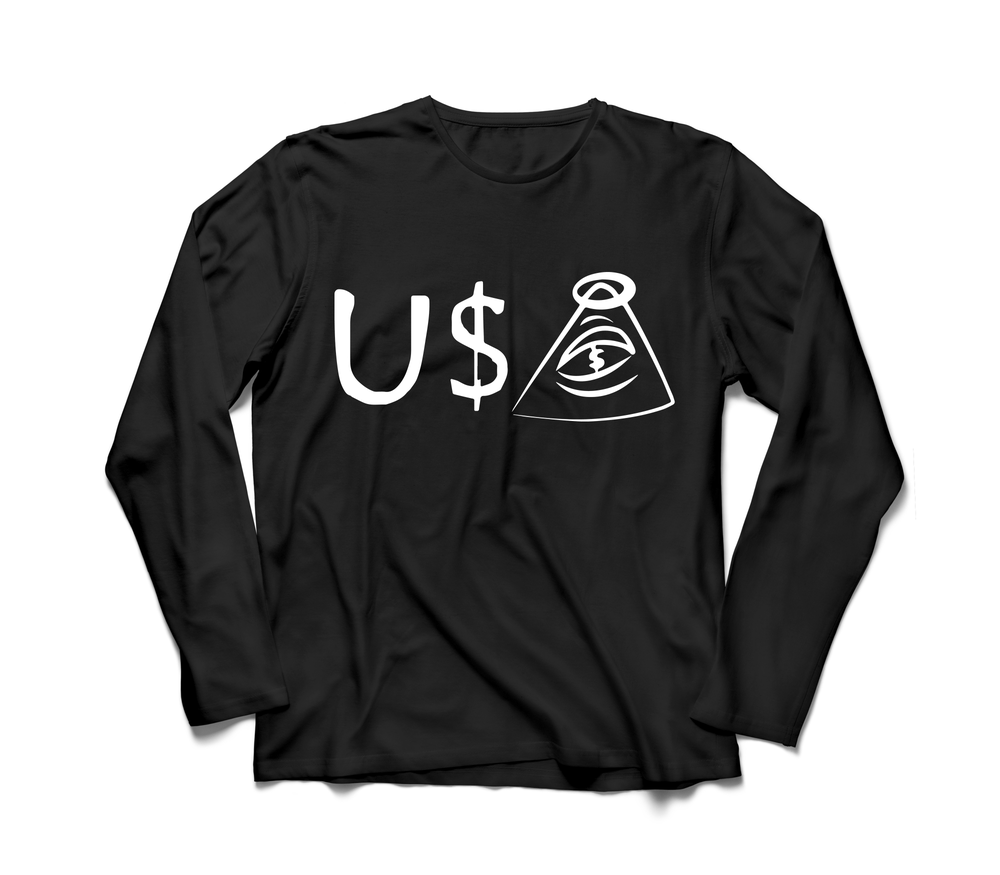 Image of U$A LONG SLEEVE TEE (B)