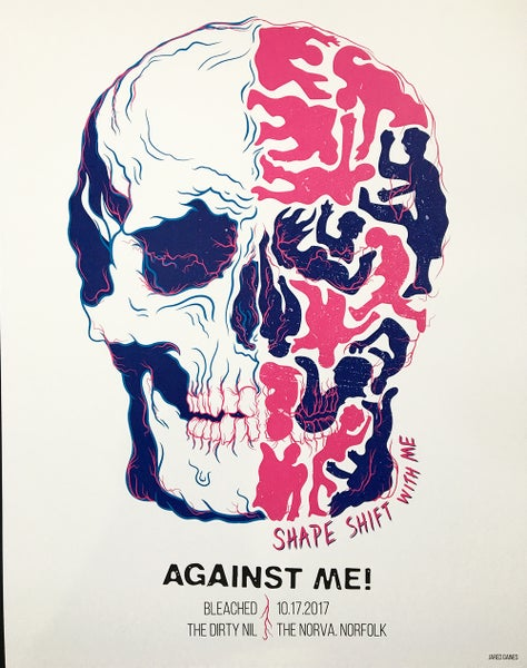 Image of Against Me! 2017 Tour Poster