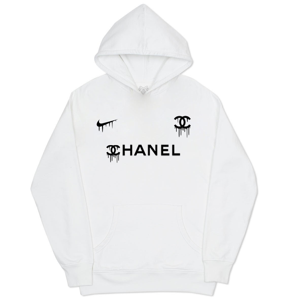 chanel hoodie. image of nike x chanel hoodie - white