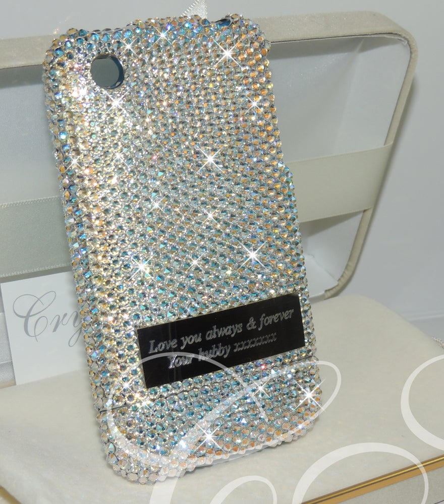 Image of Crystal Shimmer with Personalised Engraved Plate