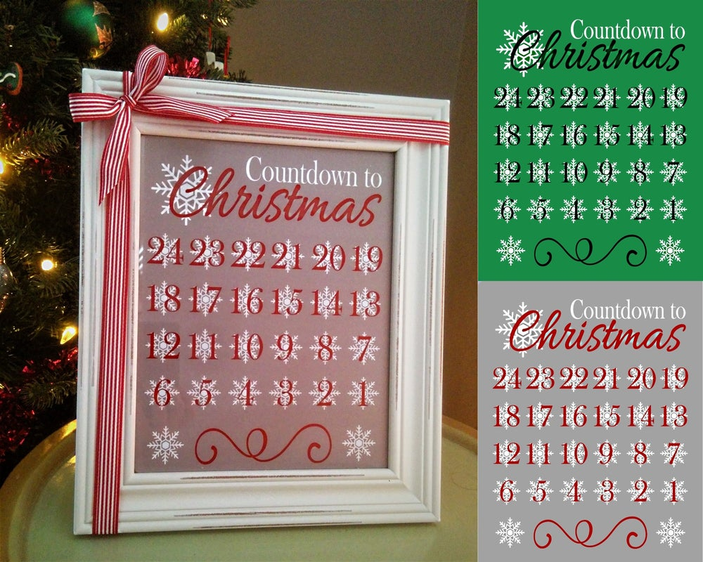 Image of Christmas Countdown Frame
