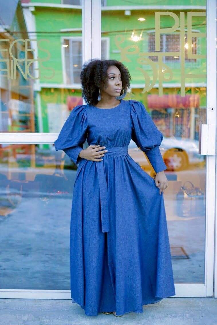 Image of Victoria Denim Maxi