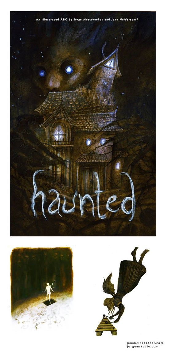 Image of Haunted - An ABC illustrated by Jorge Mascarenhas and Jana Heidersdorf (Hardcover Edition)