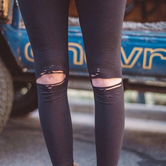 Image of Distressed leggings