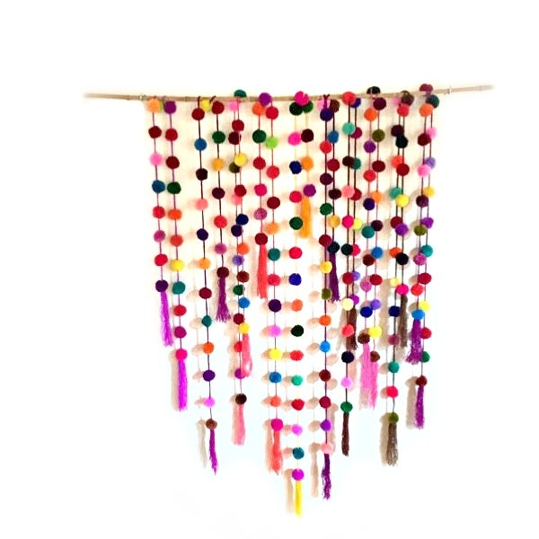 Image of Rainbow Pom Pom Garland