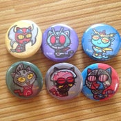 Image of Tokusatsu Kitty Buttons #2