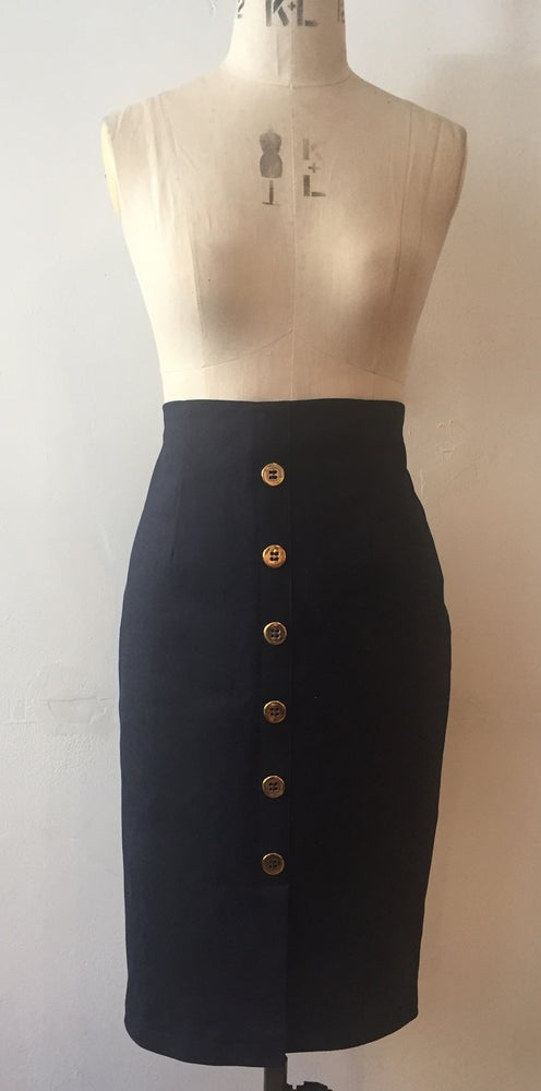 Image of High waisted denim skirt
