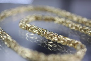Image of Mens Gold Franco Wheat Chain