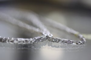 Image of Mens White Gold Franco Wheat Chain