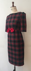 Image of Tartan bow dress
