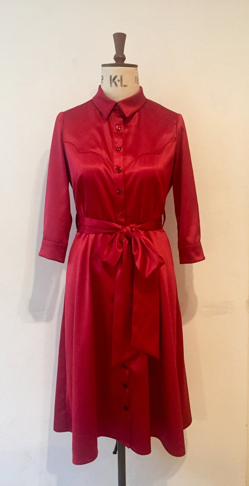 Image of Satin cowgirl shirtdress