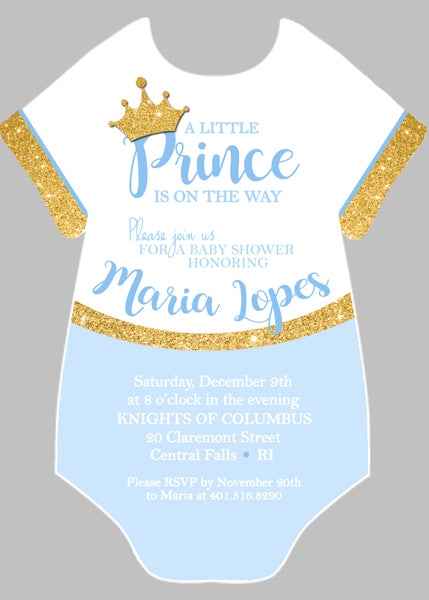 Image of Onsie Baby Shower Invitation