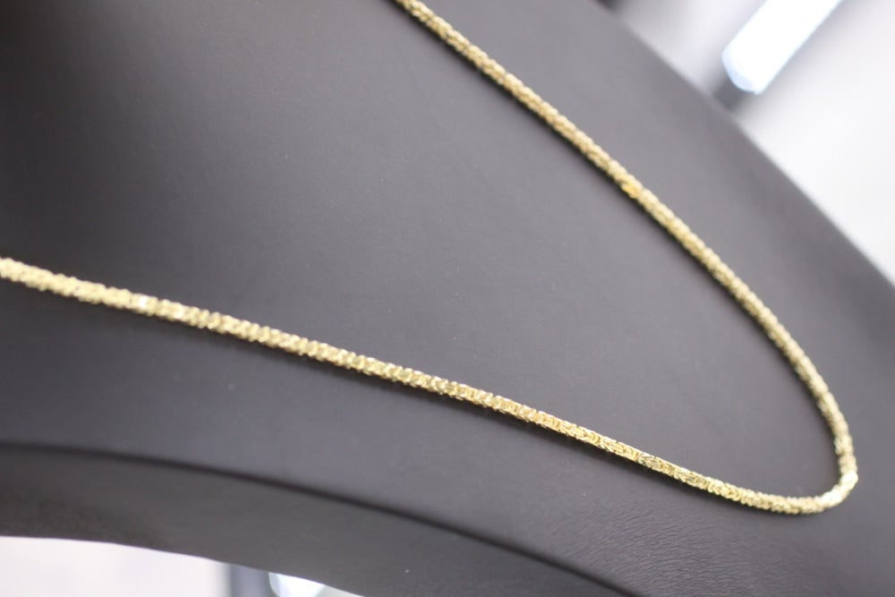 Image of Mens Franco Wheat Gold Chain