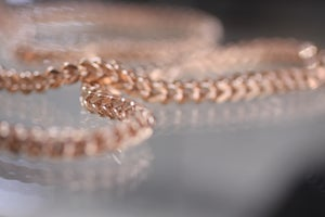 Image of Mens Rose Gold Franco Chain