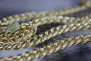 Image of Mens 36 inch Cuban Gold Chain