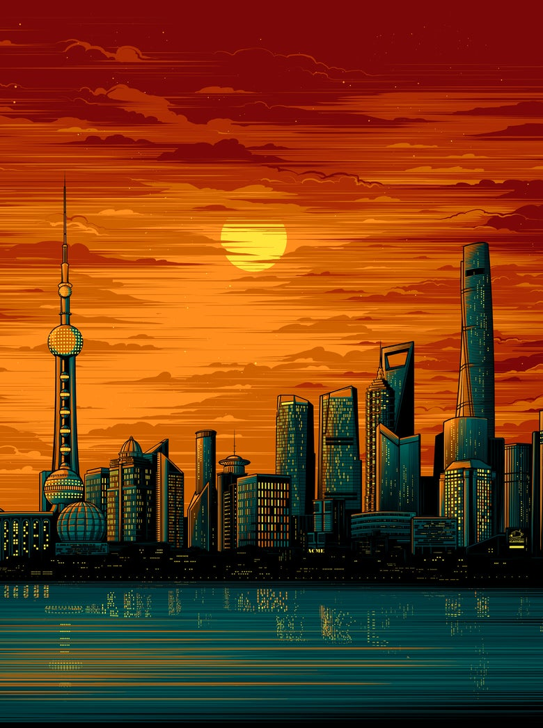 Image of Shanghai Sunset - Variant