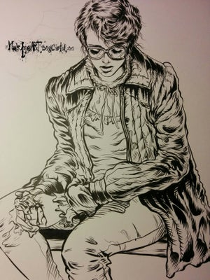 Image of Barb's last moments OG original hand inked art