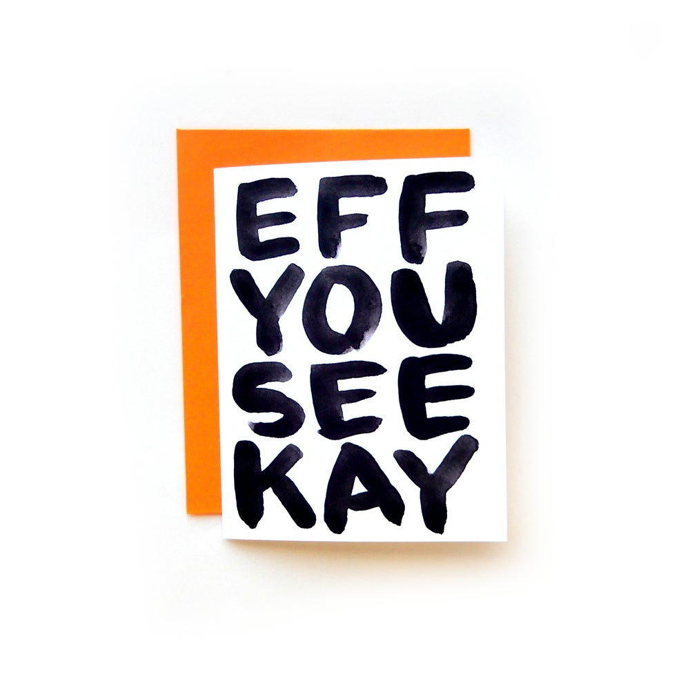 Image of F-U-C-K Phonetic Alphabet Card