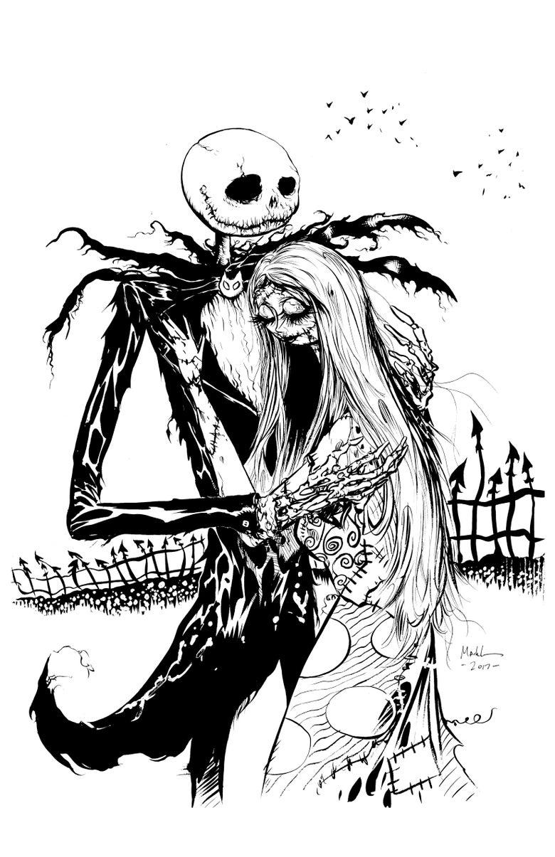 Image of Jack and Sally original OG art
