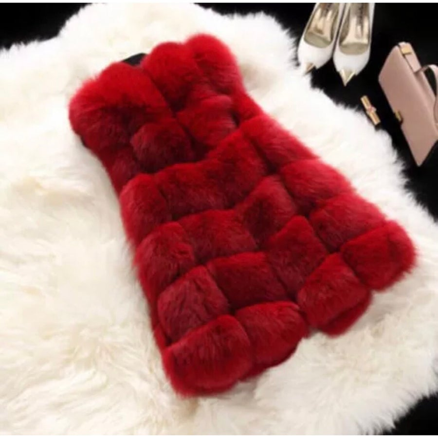 Image of Swiss Fur Red Hot Gilet