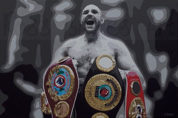 Image of 'FISTS OF FURY' (3X2ft canvas print)