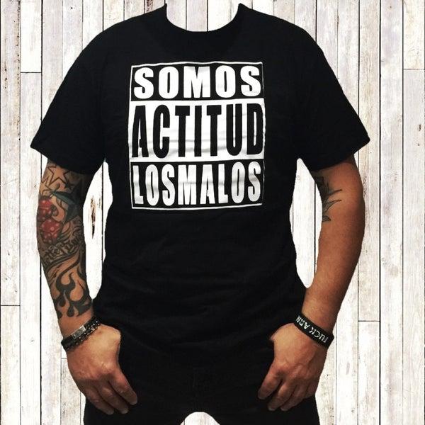 """Image of Camiseta """"Actitud""""  Negra , tallas L-M-S-XL"""