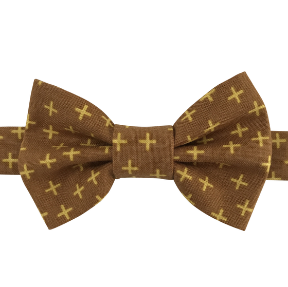 Image of mustard cross bow tie