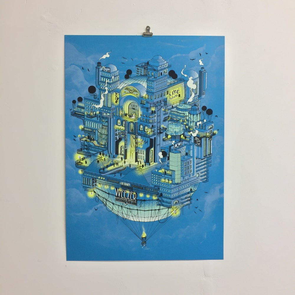 Image of WEEZER Screenprint: Manchester 25.10.17