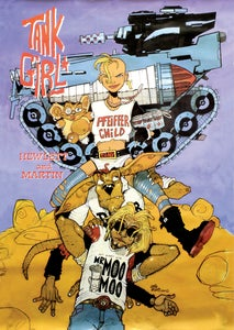Image of TANK GIRL 1990 Penguin Books Poster By Jamie Hewlett