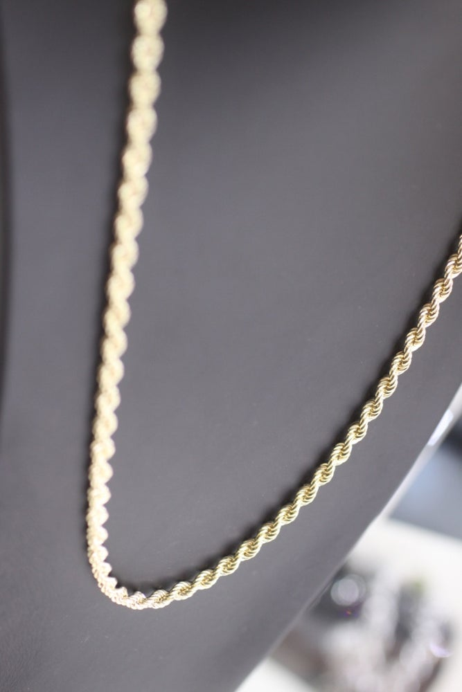 Image of Mens Gold Rope Chain