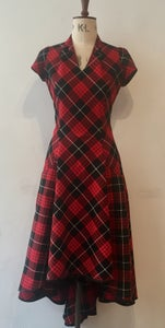 Image of Tartan blitz waterfall dress