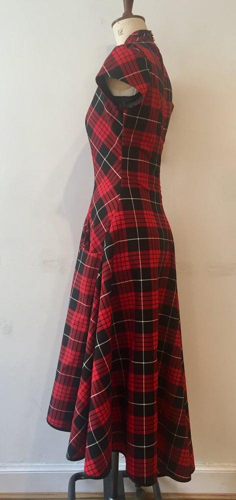 Image of Tartan blitz waterfall dress