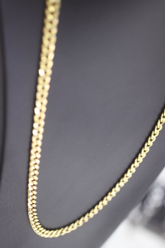 Image of Mens Miami Curb Gold Chain