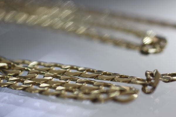 Image of Mens Miami curb Gold Chain lightweight