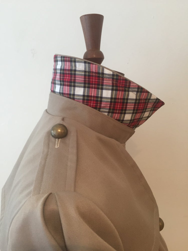 Image of Totty Trench with tartan trimmings
