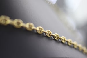 Image of Mens oval link gold chain