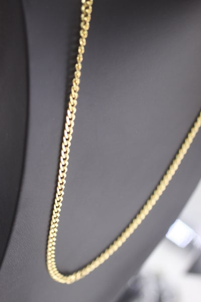 Image of Mens Thick Set Curb Gold Chain