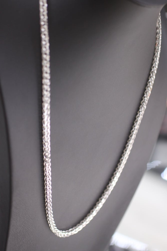 Image of Mens White Gold Franco Wheat Heavy Chain