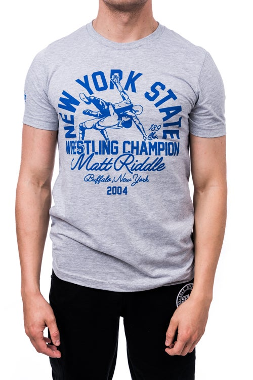 Image of Matt Riddle New York State Wrestling Champion 2004 T-Shirt