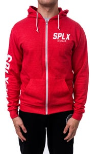 Image of SPLX Red Full Zip Hoodie