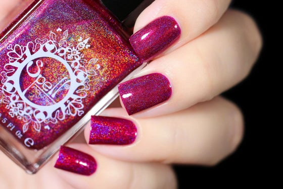Image of ~Gadfly~ rich boysenberry pink/purple linear holo!