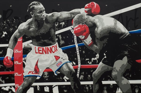 Image of 'LEWIS VS TYSON' (A3 art print)