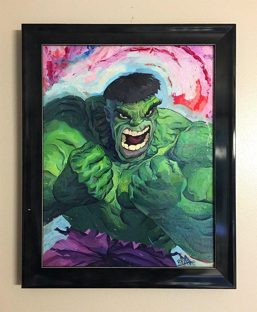 Image of Hulk Original Painting
