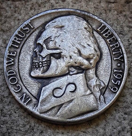Image of Thomas Jefferson Skull Nickel - Made To Order