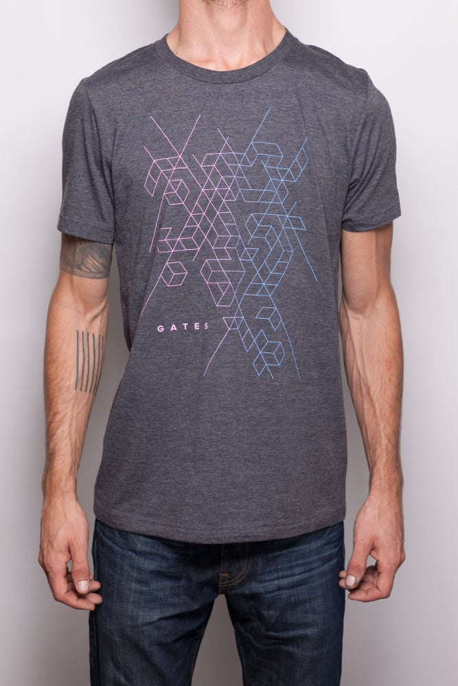 Image of Grey 'Fractal' Shirt