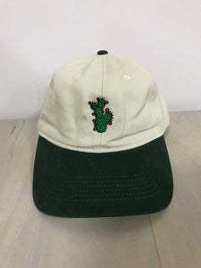 Image of Khaki & Green Dad Hat - Prickly Pear Cactus