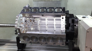 Image of Billet Lamborghini V10 Engine Block