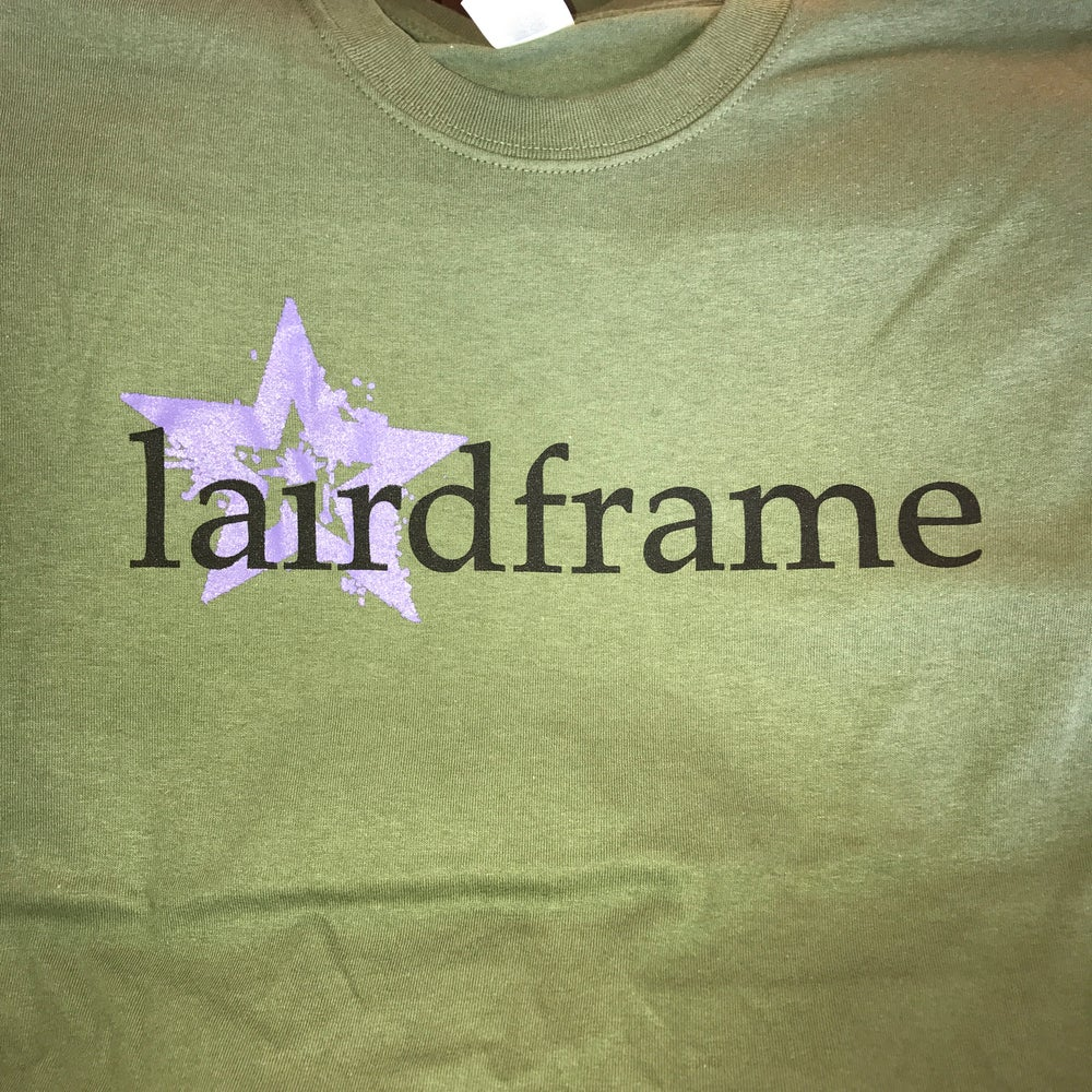 Image of TSHIRT- Lairdframe Star Army Green