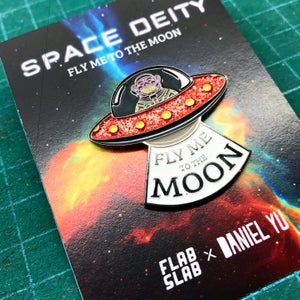 Image of Space Deity enamel pin